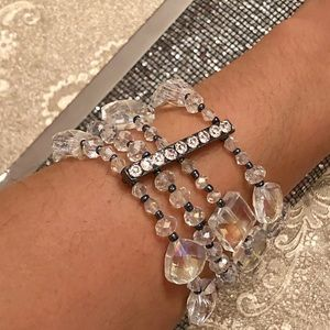 Jewelry - Clear crystal layered bracelet